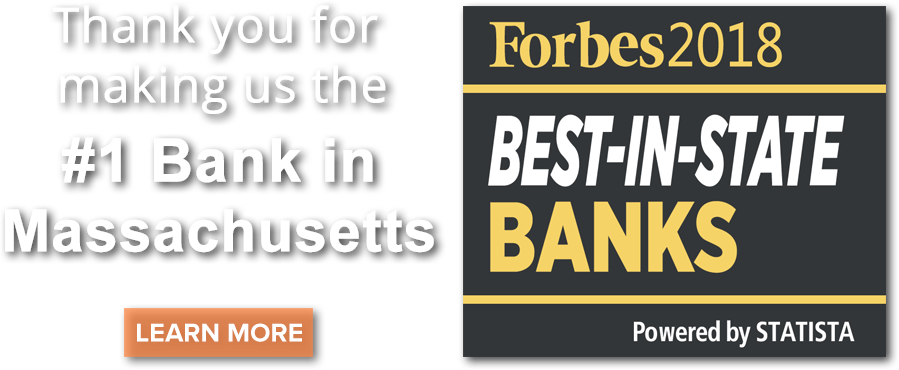Thank you for making HarborOne Bank the #1 Bank in Massachusetts