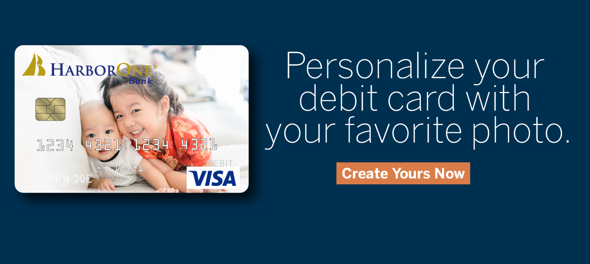 Personalize your debit card with your favorite photo - create yours now