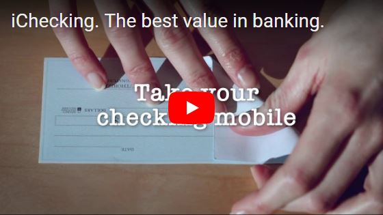 iChecking. The best value in banking...Learn More >